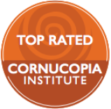 Happy Hens has been TOP RATED  (with a 5 out of 5 eggs) by the Cornucopia Institute